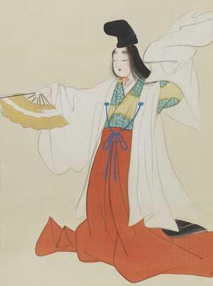 上村松園「古代舞姫図」(部分)