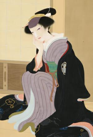栗原玉葉「瀬川菊之丞」(部分)