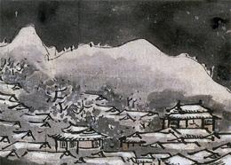 与謝蕪村「夜色楼台図」