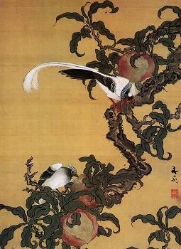 谷文晁「綬帯鳥図」