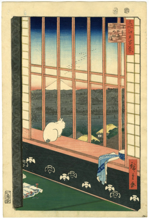 "Utagawa Hiroshige ""One Hundred Famous Views of Edo, Asakusa Ricefields and Torinomachi Festival"""