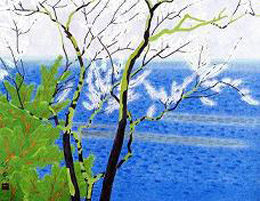 小野 竹喬 「春の海」