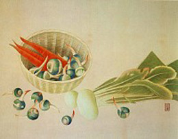 土田麦僊「蔬菜」