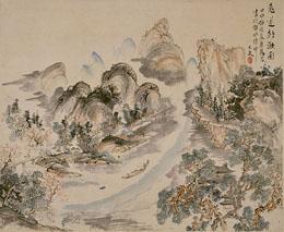 青木木米「兎道朝暾図」(東京国立博物館蔵)