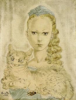 藤田 嗣治「猫を抱く少女」 shinwa 2006.7.15