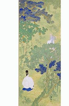 今村 紫紅 「宇津の山路」(静岡県立美術館蔵)