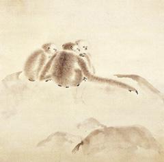 入江 波光「猿猴」(部分)