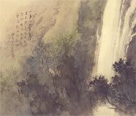 松林 桂月「瀑布泉」