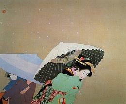 上村 松園「牡丹雪」(足立美術館蔵)