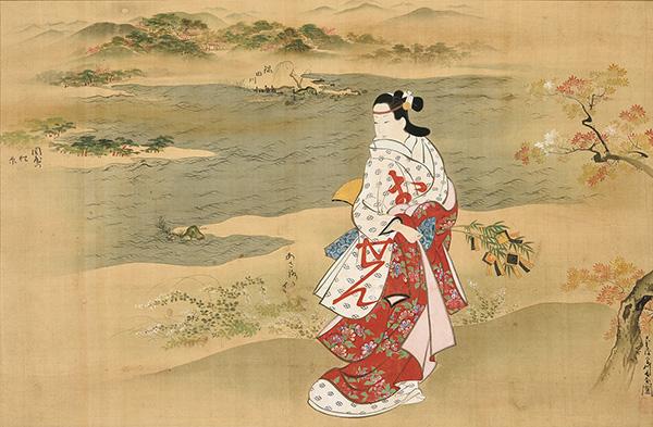 宮川長春「立美人図」