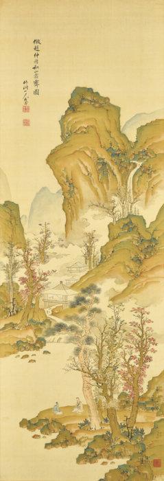 中林 竹洞「秋山霜霽図」