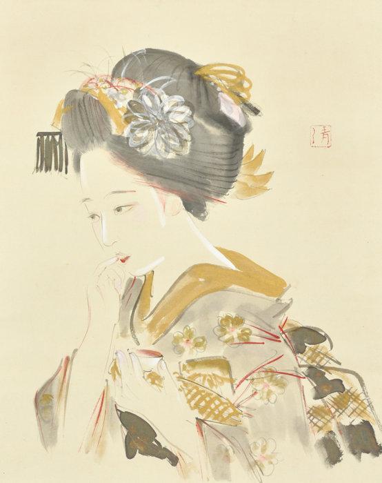 小早川 清「舞妓口紅之図」