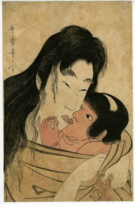 """Kitagawa Utamaro """"Yamauba and Kintaro"""""""