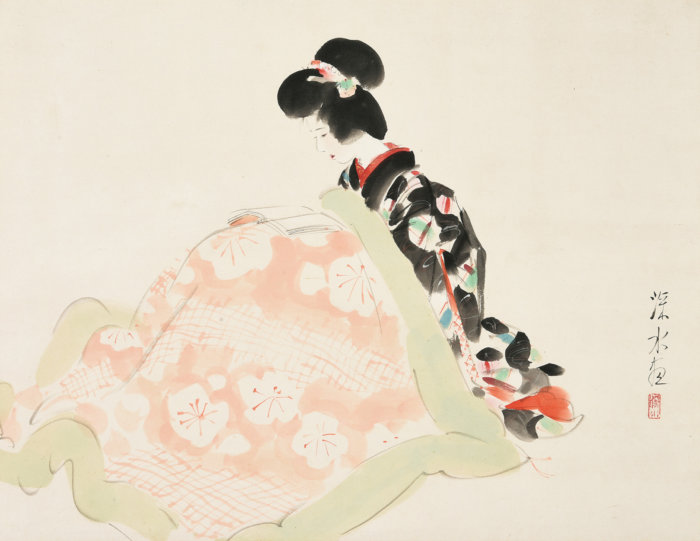 "Ito Shinsui ""Kotatsu (Japanese foot warmer)"""
