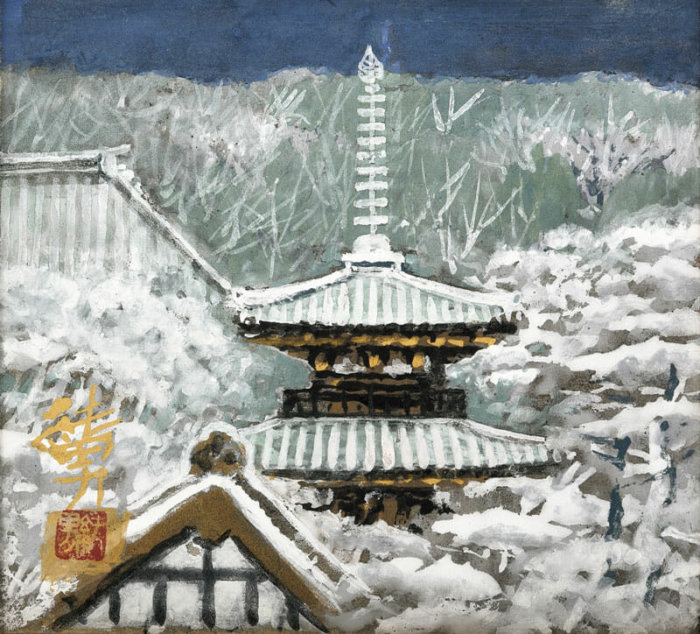 "Goto Sumio ""Nara after Fresh Snow"""