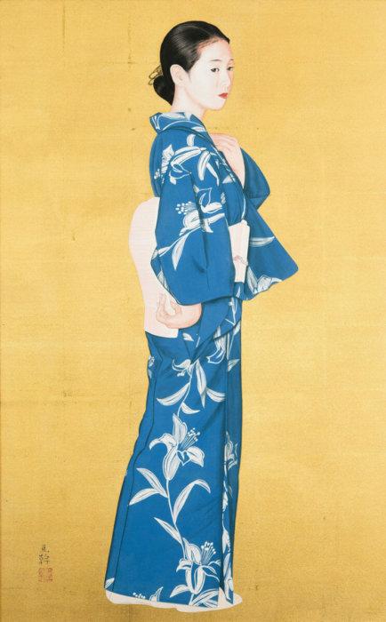 """Aoyama Nobuyoshi """"Blue Kimono"""""""