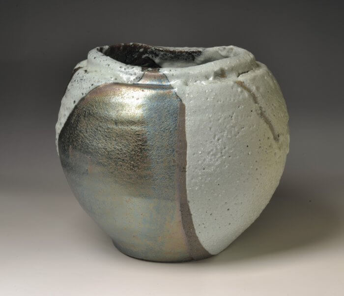 "Shimizu Uichi ""White Glaze Vase of Horai Kiln"""