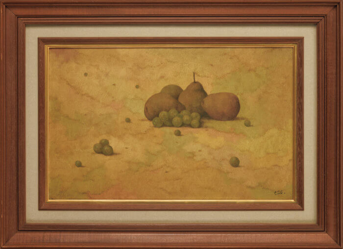 福井 良之助「静物画(洋梨と葡萄)」