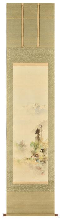 石川 欽一郎「信濃穂高岳図」