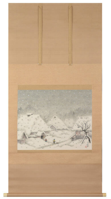 "Sakai Sanryo  ""Snow Mountain Village"""