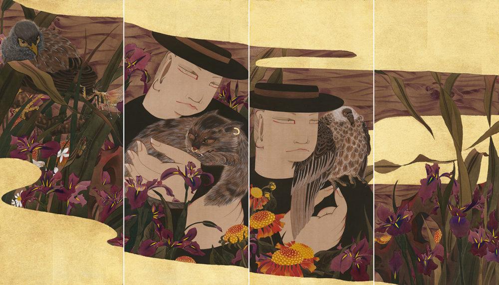 狄青(ディーチン) Di Qing「回望」 58.5×24.7cm / 1枚(4枚セットもしくは、各作品ごと販売いたします)