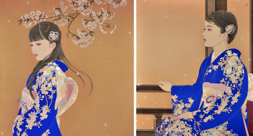 宮﨑優 左:「春光」(部分)   右:「春光Ⅱ」