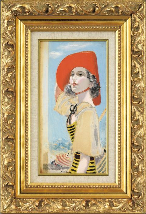 宮本 三郎「赤い帽子の女」