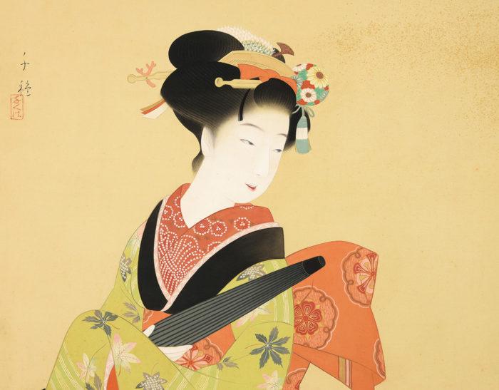 木谷 千種「傘持つ美人」