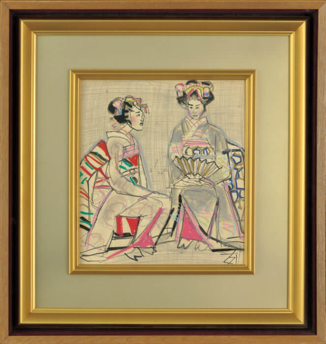 須田 剋太「舞妓二人」