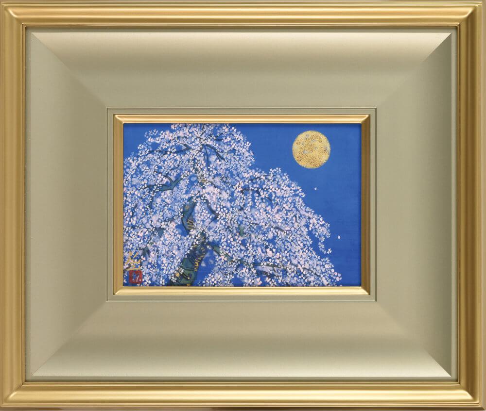 平松 礼二「桜月図」 価格 350,000円