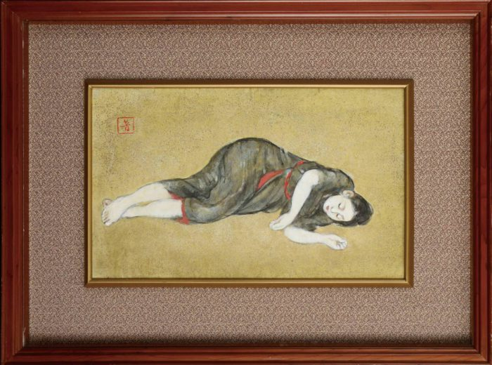 "Kainosho Tadaoto ""Woman Lying on the Floor"""