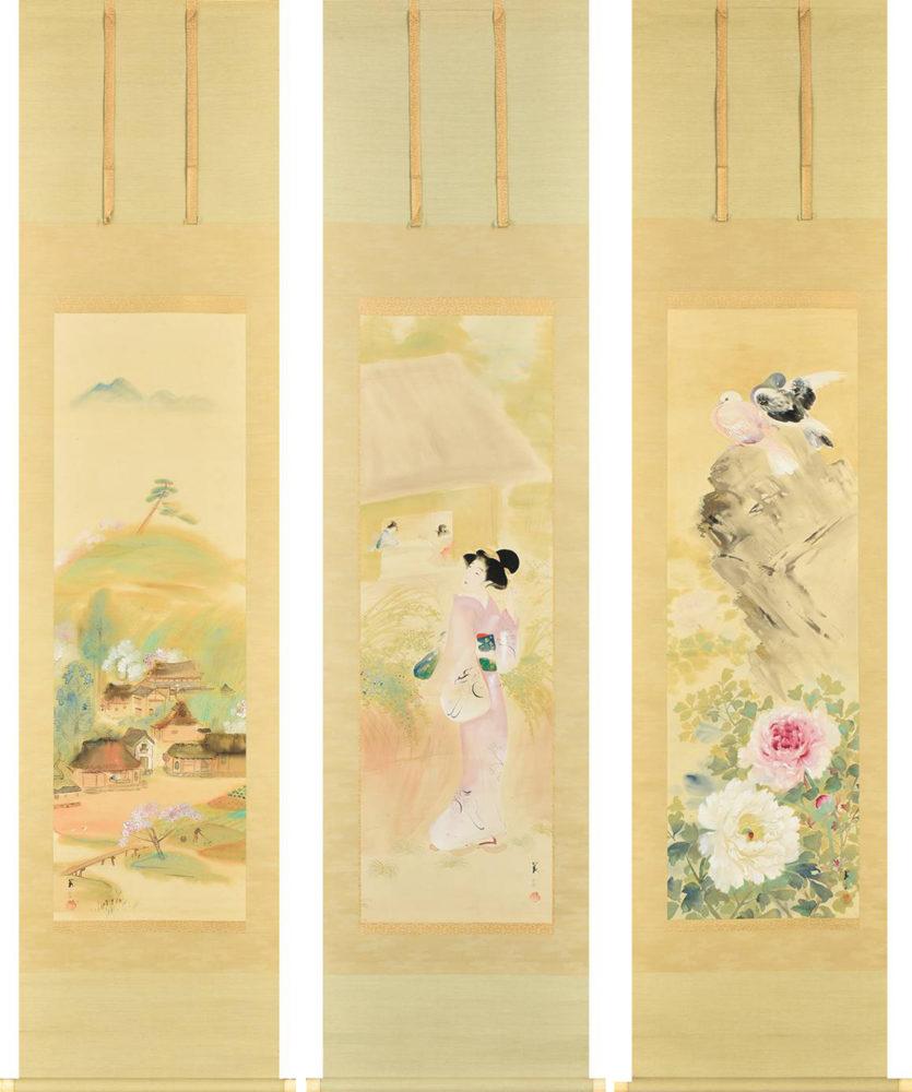 山本 昇雲「花三題」 価格 250,000円
