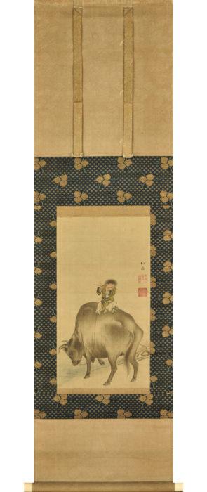 """Maruyama Okyo """"Boy Riding on Ox"""""""