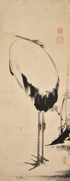 "Ito Jyakuchu ""Plum blossom and Crane"""