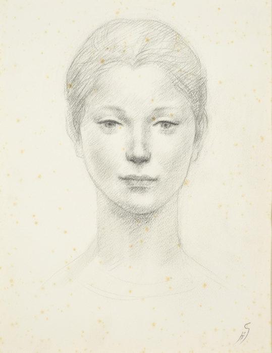 舟越 保武「少女の顔」