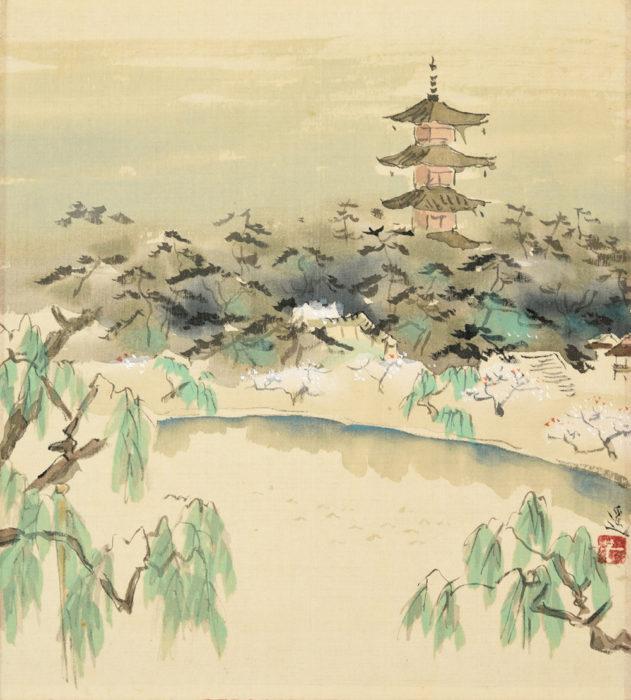 """Ikeda Yoson """"Spring Breeze in Sarusawa"""""""