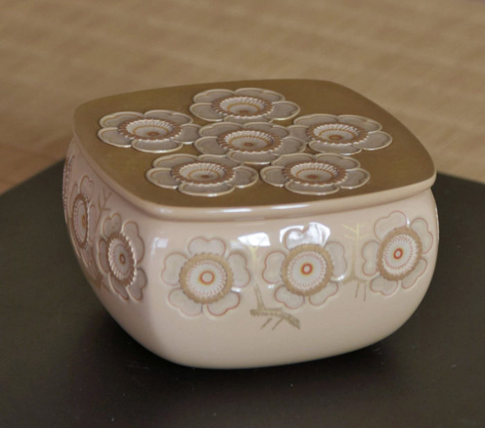 """Otomaru Kodo """"Chaire with Plum Blossom Pattern, Japanese Lacquerware"""""""