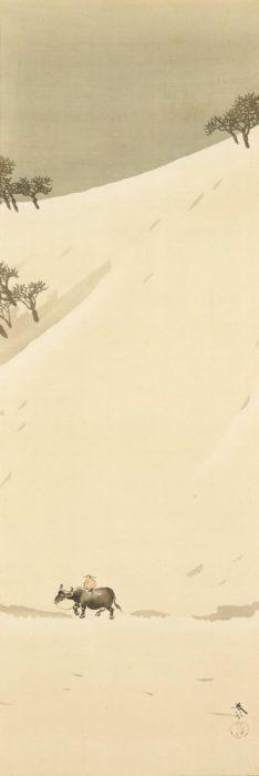 菱田 春草「雪後」