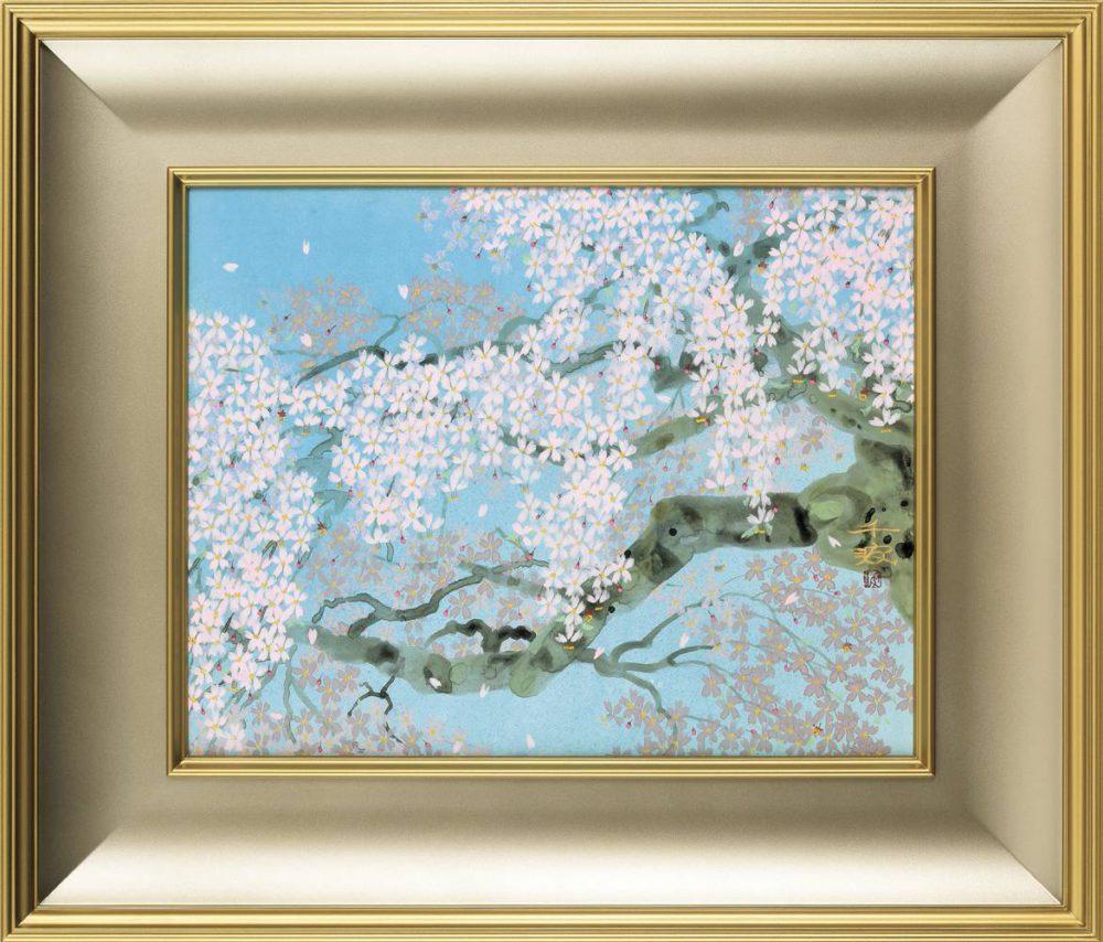 中島 千波「信楽 畑の枝垂桜」 価格はお問い合わせください