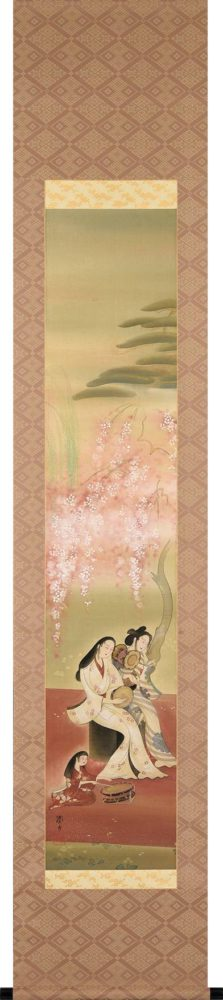 三宅 凰白「桜下美人」 価格 120,000円