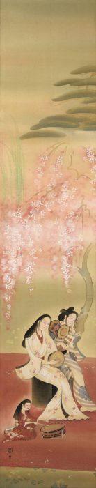 三宅 凰白「桜下美人」