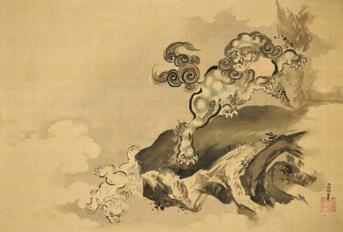岩井 泉流「唐獅子之図」