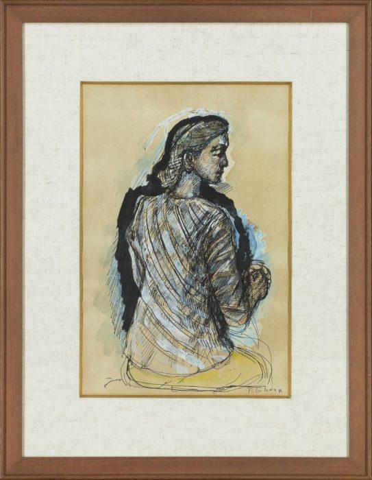 海老原 喜之助「坐る婦人」
