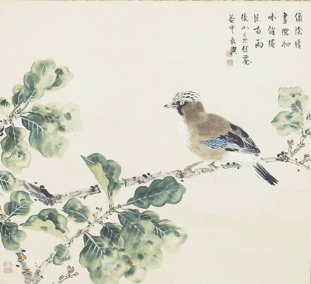 小室 翠雲「賦色緑陰清昼図」 価格 95,000円(税込)