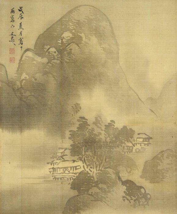 谷 文晁「江山烟雨図」