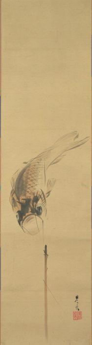 柴田 是真「鯉のぼり図」