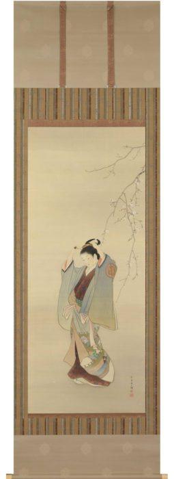 上村 松園「桜下美人」