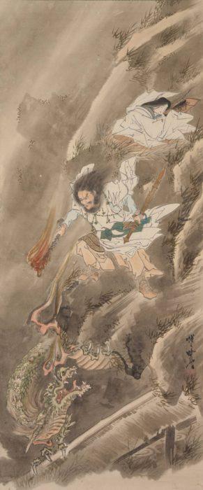 河鍋 暁斎「素戔嗚尊の九頭龍退治」