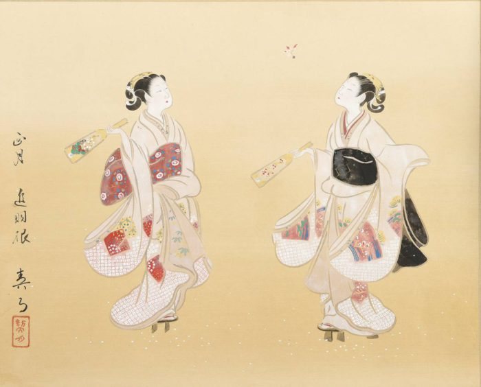 """Kikuchi Keigetsu """"Twelve Months of Beauties"""""""