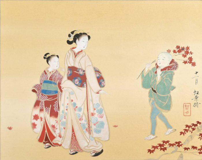 菊池 契月「古代美人画十二ヶ月」